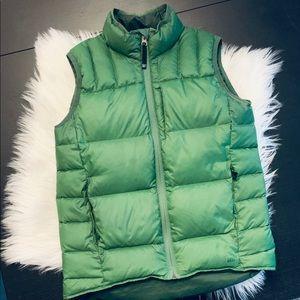 REI Boys green down vest. Large (14/16). Warm!!!